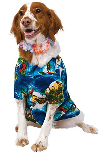 Rubies Costume Party Hemd und Lei Pet Kostüm, XXXL (Halloween Hawaii-shirt)