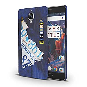 Koveru Designer Printed Protective Snap-On Durable Plastic Back Shell Case Cover for OnePlus 3 , OnePlus 3T - Virginia