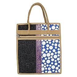 Aadhunik Libaas Jute Lunch Bag, Handbag, Tote Bag for men & women