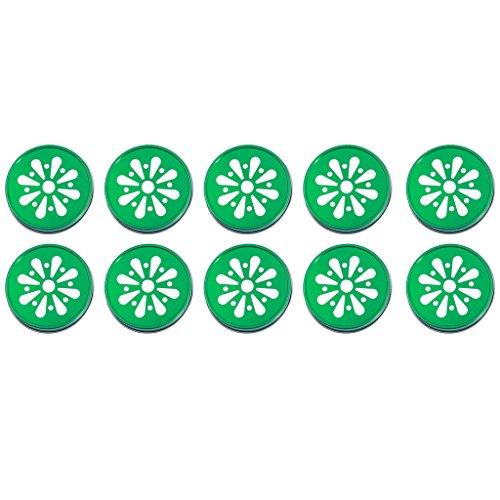 10pcs Daisy Stroh Loch Deckel Schraubdeckel Lid Caps für Mason Ball Jar - Grün, XXL (Mason Jar Lids-daisy)
