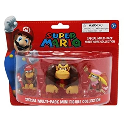 Figurine 'Nintendo' - Pack DK : Donkey Kong, Diddy Kong, Dixie Kong