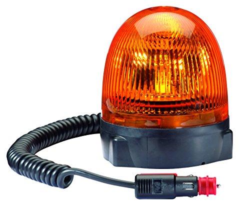 Kurven 3 Glühbirnen (HELLA 2RL 009 506-301 Rundumkennleuchte Rota Compact, Magnetbefestigung, 12 V, gelb)