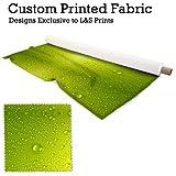 Grün Wasser Tropfen Design Digital Print Strick Jersey