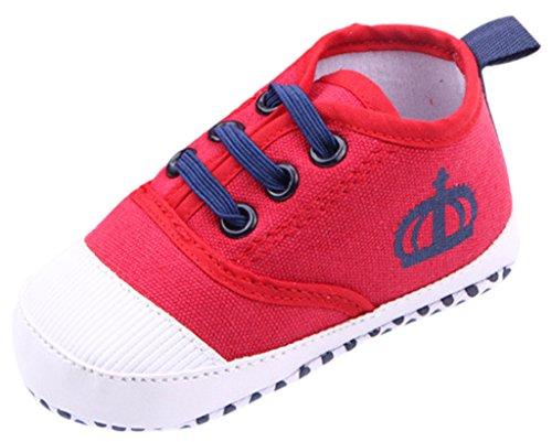 Bigood Chaussure Bébé Tissu Chaussures Sport Antidérapant Couronne