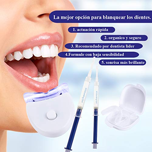 Blanqueamiento dental kit gel,  Kit de Blanqueamiento de Dientes, Contra Dientes Amarillos,  Manchas de Humo,  Dientes Negros