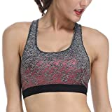 ALONG FIT Sport BH Damen Bustier Comfort Sport-BH Racerback Gepolsterter Push Up Top Fuer Yoga Fitness