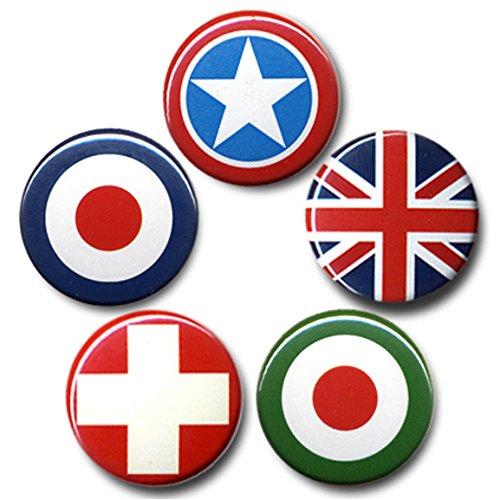 flaggen-swiss-cross-us-star-union-jack-royal-air-force-juego-de-placa-juego-de-5-insignia-diseno-ori