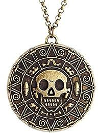 Collar de Piratas del Caribe, color bronce, para regalo