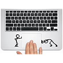 Herngee - Silueta de vinilo Matchman-Pushing para trackpad de Macbook o portátil o ventanilla del coche