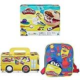 Play-Doh - El Dentista Bromista + Pack Super Color, 20 Botes + Mochila