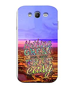 PrintVisa Designer Back Case Cover for Samsung Galaxy Grand Neo Plus I9060I :: Samsung Galaxy Grand Neo+ (Attractive Sharp Colorful Wisdom On Life )