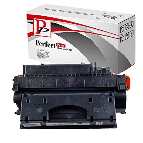PerfectPrint Compatible Virador Cartucho Reemplazo Para HP Laserjet P-2055DN 2050 2053N 2057 2055X 2056N 2057N 2054D 2053D 2057D 2056D 2054N CE505X 05X (Negro)