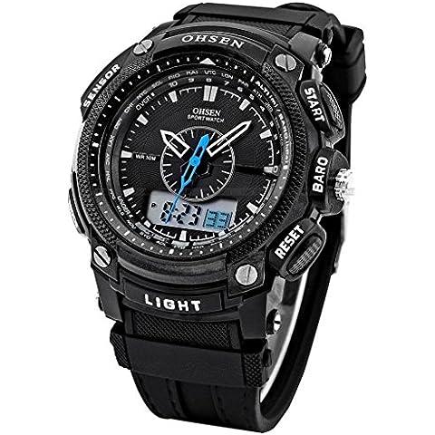 So vedere uomini ragazzo digitale LED allarme doppio display militare in gomma impermeabile orologio