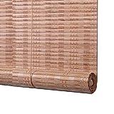 ZEMIN Bambus Rollo Bambusrollo Jalousette Venetian Schatten Innen/Außen Installieren Anpassbar Schutz Anti-Peep Handhebend, 3 Farben, 21 Größen (Farbe : Log, Größe : 85x150CM)