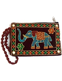 Kasia™ Designer Jaipuri Embroided Mobile-Phone Pouch Cover With Purse Pocket For Women And Girl,Size:18 X 12 X...
