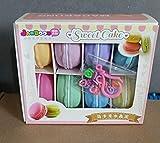 Adkwse 8 STK DIY Macarons Kristall Schlamm Kit Kinderpartyzubehör Dekoration