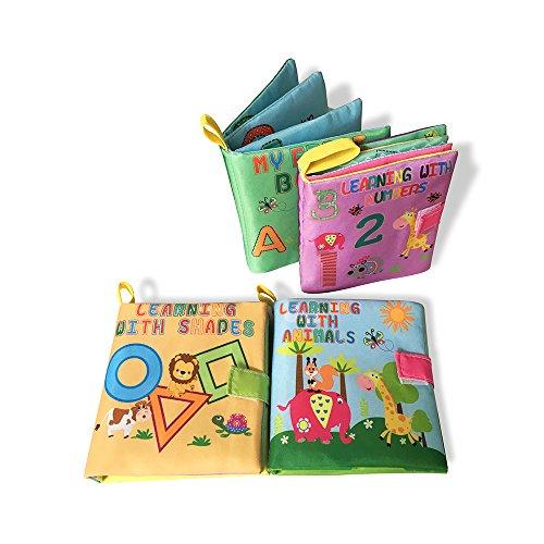 Ensemble de 4 livres d'apprentissage pour enfants en tissu doux, intitulé My first Soft Fabric Activity Books
