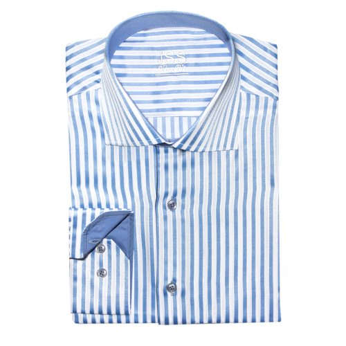 J S Shirts formale da lavoro, Casual, da uomo, Regular Fit, S-4XL & stili, colori assortiti Blue pin stripe