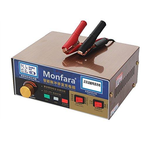 MeterMall Accesorios Coche 12V / 24V 400AH Pantalla