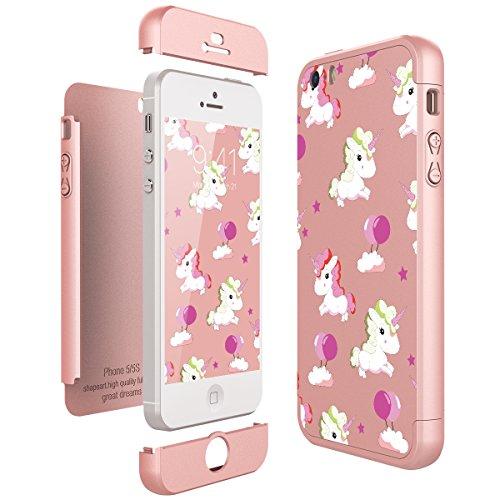 CE-Link für iPhone SE / iPhone 5 / iPhone 5s Hülle Hardcase 3 in 1 Handyhülle Ultra Dünn...