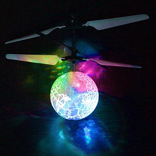 sunnymi Induktion Fliegen Ball Flugzeug mit 7 Farben,Kinder Spielzeug,Elektro Lichtspielzeug Weihnachten LED Beleuchtung,Puzzle Bildung Spielzeug,Geeignet für: Alter 6+ (muti, 18,2 * 6,5 * 17,6 cm)
