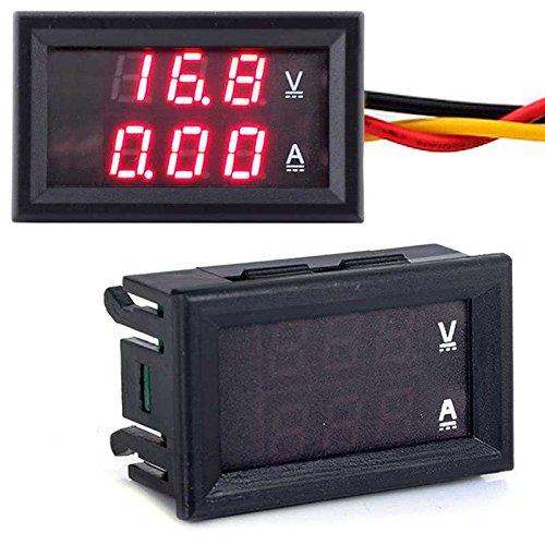 DC 100V/10A Voltmeter Amperemeter IN Shunt Digital LCD Volt Amp Tester Meter (1/0 Gauge Amp)