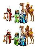 Outletdelocio. Playmobil Navidad 5589. Pack 2 Conjuntos 3 Reyes Magos con...