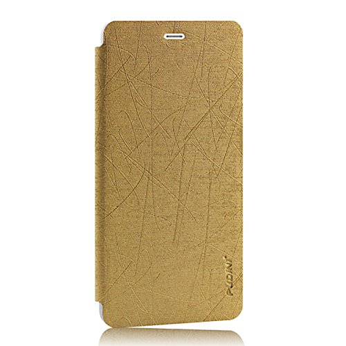 Pudini Yusi Rain Series Leather Flip Cover Stand Case for OnePlus X - Champaign Gold  available at amazon for Rs.148