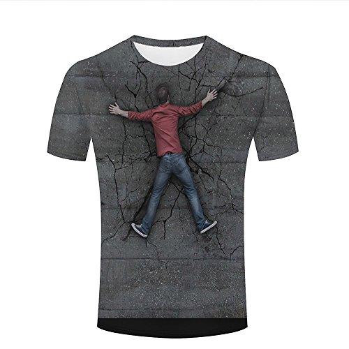 chenjing custom 3D Tshirts Homme Femmes Wall Split Black Crack Top Tee Shirt d3489fefb5c0
