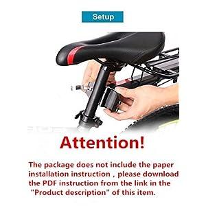 COMINGFIT® Capacidad de 80 kg, portabicicletas Ajustable Portaequipajes-Estante Súper Fuerte Mejora Estante para Bicicletas 4-Strong-Leg Bicycle Carrier