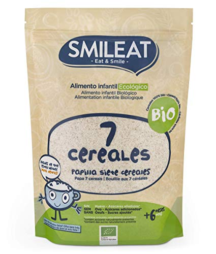 Smileat Papilla Ecológica 7 Cereales Pack 6 Unidades