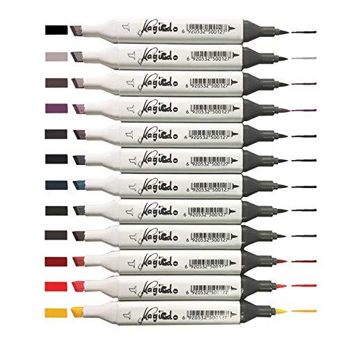93413309b magicdo® 12 PCS Blanco/Negro Marker Pen Set, colorido, impermeable y lavable