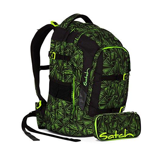 Satch Pack - 2tlg. Set Schulrucksack - Motive - Schulrucksack Schlamperbox (Green Bermuda)