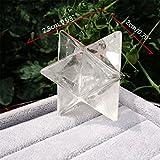 SLB Works Natural Clear Quartz Crystal Merkaba Star Sacred Geometry Reiki Healing 8 Points