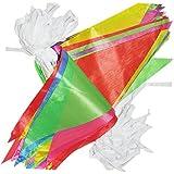 Veewon Nylon multicolor Bandera de los Bunting 38M Banderín Bandera Guirnaldas Tela Triángulo Banderas Vintage Interior / Exterior Decoración de Fiesta