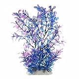 TOOGOO(R) Plante Artificielle Aquatique en Plastique Violet-bleu Deco pour Aquarium
