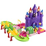 Toy Train Set Princess 51 PCS Toy Train Car & Track Playset W/ Battery Operated Toy Train