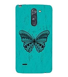 Graphical Butterfly 3D Hard Polycarbonate Designer Back Case Cover for LG G3 Stylus :: LG G3 Stylus D690N :: LG G3 Stylus D690