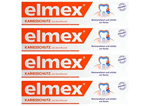 4x ELMEX KARIESSCHUTZ mit Aminfluorid Zahnpasta 75ml schützt vor Karies