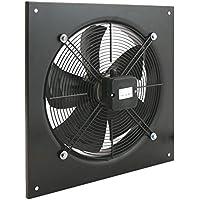 PrimeMatik - Extractor de Aire de Pared de 400 mm para ventilación Industrial 1360 RPM Cuadrado 540x540x80 mm