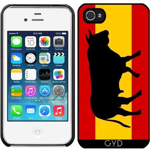 SilikonHülle für Iphone 5/5S - Eine Spanische Flagge Mit Stier by zorg Starre Kunststoff