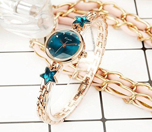 Addic Heritage & Charm Analogue Blue & Rose Gold Girls & Women's Watch – Ww468A