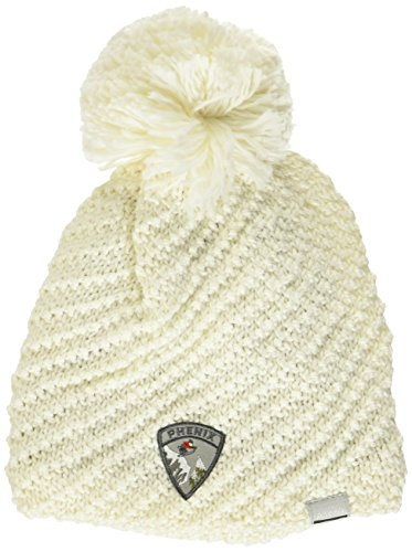 Phenix Damen Montclair Knit Hat with Pon Mütze, White, OneSize -