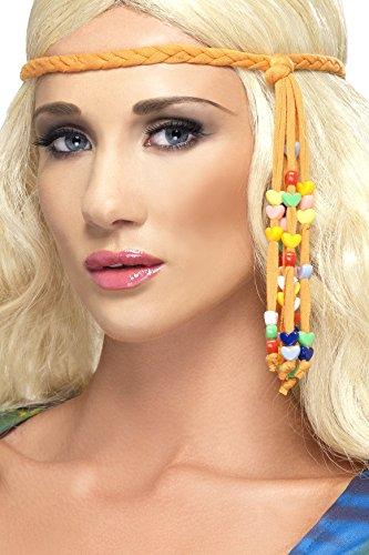 Smiffys Damen 60er Jahre Hippie Stirnband, One Size, Braun, 34003