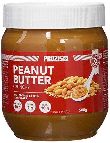 Prozis Foods Crema de Cacahuete, Sabor Crujiente - 500 gramos - [paquete de 6]