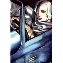 Kunstdruck 'Selbstporträt', von Tamara de Lempicka, Größe: 61 x 91 cm