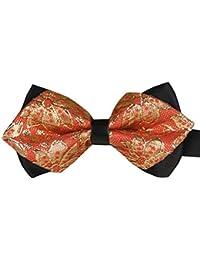 Panegy - Nœud papillon rayé - Lavallière avec double couche - Homme Soirée Businesse Mariage Cérémonie Déco Fête Costume Necktie 6*12cm