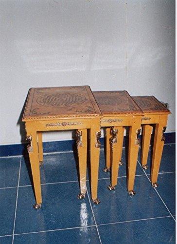LouisXV Barock Beistelltisch Tisch Antik Stil rokoko MoAl0408 antik Stil Massivholz. Replizierte...