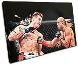 Bold Bloc Design - MMA BJ Penn Sports - 135x90cm Leinwand Kunstdruck Box gerahmte Bild Wand hängen - handgefertigt In Großbritannien - gerahmt und bereit zum Aufhängen - Canvas Art Print