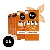 Logic Pro - Goût US Classic - 6 Packs de 3 cartouches d'e-liquide – Sans Nicotine Ni Tabac – Utilisation exclusive avec la Cigarette Electronique Logic Pro (vendue séparément)